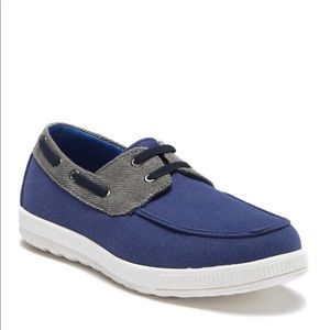 DEER STAGS EVERS LOAFERS IN NAVY & GREY